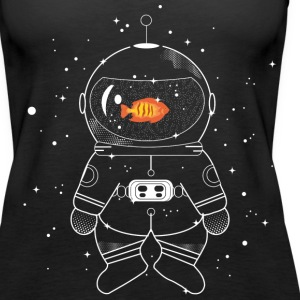 Astronaut with goldfish  Tops - Women's Premium Tank Top