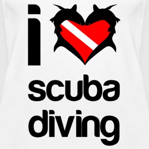 i heart scuba diving - Women's Tank Top - Women's Premium Tank Top