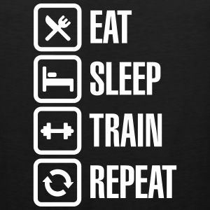 Eat sleep train repeat - bodybuilding T-Shirts - Men's Premium Tank Top