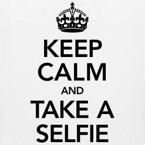 Keep Calm And Take A Selfie T-skjorter - Premium singlet for menn