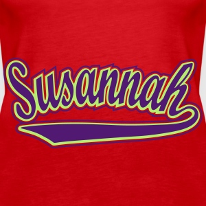 Susannah - T-shirt personalised with your name Tops - Women's Premium Tank Top