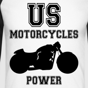 us motorcycles power Tee shirts manches longues - T-shirt baseball manches longues Homme