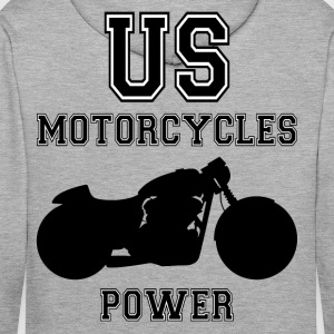 us motorcycles power Hoodies & Sweatshirts - Men's Premium Hoodie