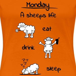 sheeps_life_monday_2f T-Shirts - Frauen Premium T-Shirt