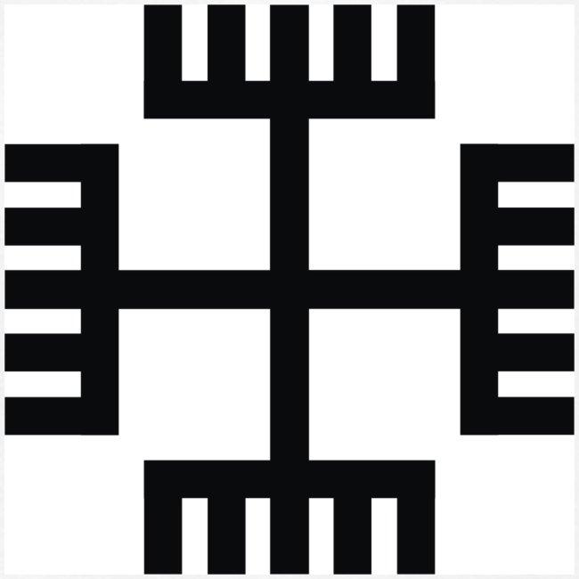 Bezrękawnik Krzyż słowiański / Ręce boga (przód)