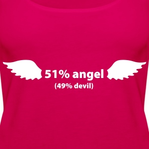 Angel 51%/ Devil 49% - Frauen Premium Tank Top