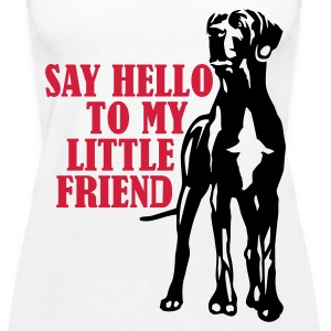 Hvid Say hello to my little friend Damer - Dame Premium tanktop