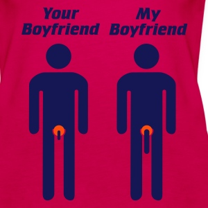 Pink your boyfriend -my boyfriend Girlie - Frauen Premium Tank Top