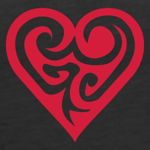Schwarz Tribal Heart 2 Girlie - Frauen Premium Tank Top