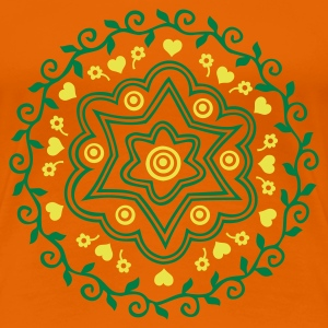 Orange ornament_2col Girlie - Frauen Premium T-Shirt