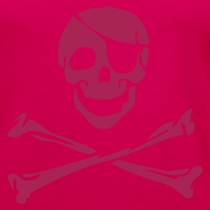 Pink Pirate Skull Girlie - Frauen Premium Tank Top
