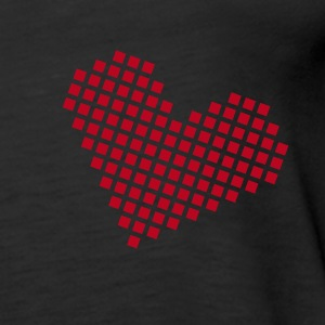 Black pixel heart for love Ladies' - Women's Premium Tank Top