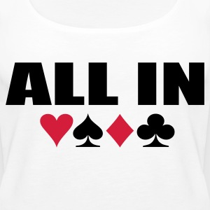 White All IN Ladies' - Women's Premium Tank Top