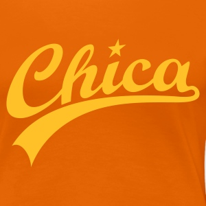 Orange CHICASTAR Girlie - Frauen Premium T-Shirt