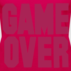 Rosa scuro Game Over / On Top - Canotta premium da donna