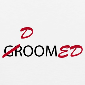 White Groom / Doomed (wedding, groom, groom to be, stag  party, honeymoon) T-Shirts - Men's Premium Tank Top