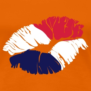 Oranje kiss holland Dames t-shirts - Vrouwen Premium T-shirt