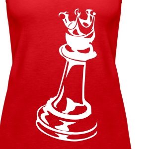 Red Chess King Tops - Women's Premium Tank Top
