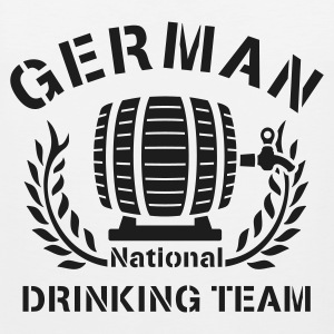 Weiß ::GERMAN N-DRINKING TEAM:: T-Shirts (Kurzarm) - Männer Premium Tank Top