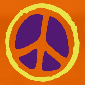 Orange peace sign T-Shirts (Kurzarm) - Frauen Premium T-Shirt