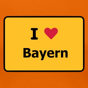 Orange I Love Bayern T-Shirts (Kurzarm) - Frauen Premium T-Shirt