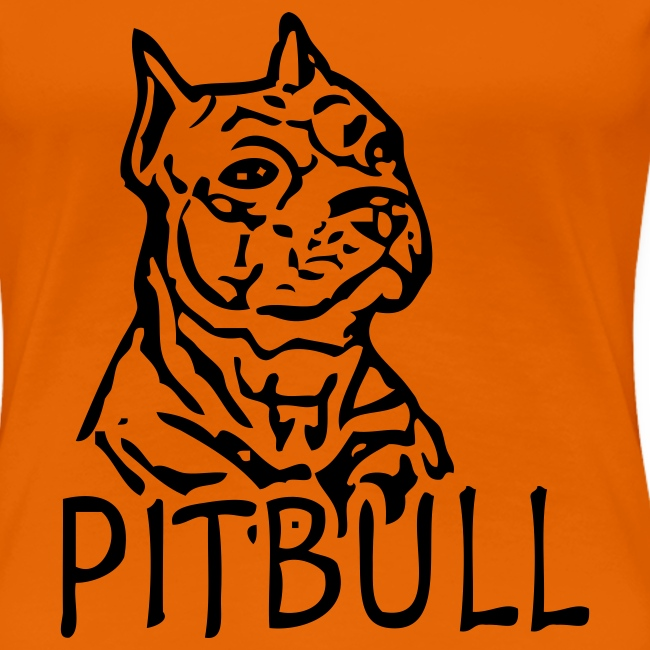 Womens Tee with Pitbull Print