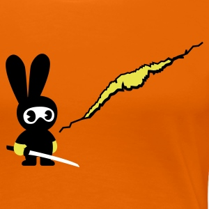 Orange ninja bunny T-Shirts - Frauen Premium T-Shirt
