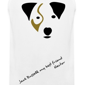 Blanc Hector - Jack Russell T-shirts - Débardeur Premium Homme