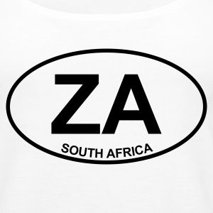 White ZA South Africa Tops - Women's Premium Tank Top