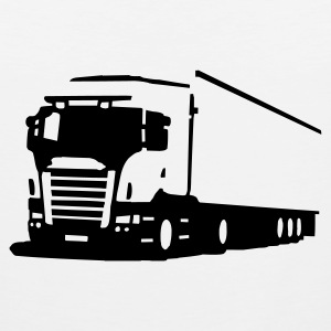 Weiß truck non coloured T-Shirts - Männer Premium Tank Top