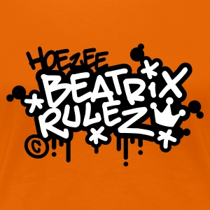 Oranje Beatrix Rules (2 color) T-shirts - Vrouwen Premium T-shirt