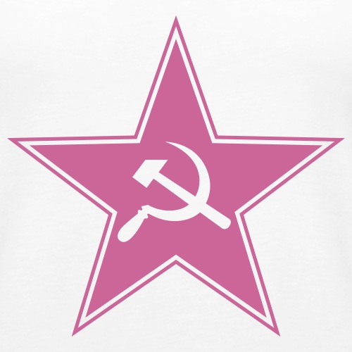 Soviet star with hammer and sickle