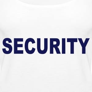 Weiß Security Tops - Frauen Premium Tank Top