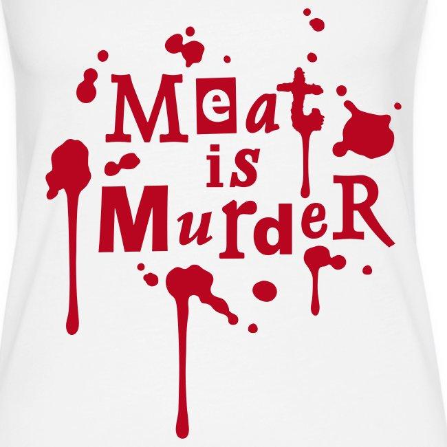 Womens Tank-Top 'Meat is Murder'