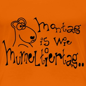 Orange murmeltiertag T-Shirts - Frauen Premium T-Shirt
