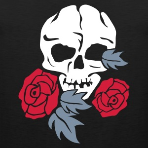 Svart skull and rose T-shirts - Premiumtanktopp herr