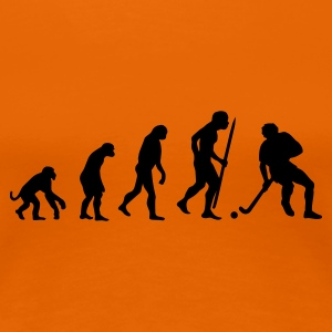 Oranje Evolution of hockey T-shirts - Vrouwen Premium T-shirt