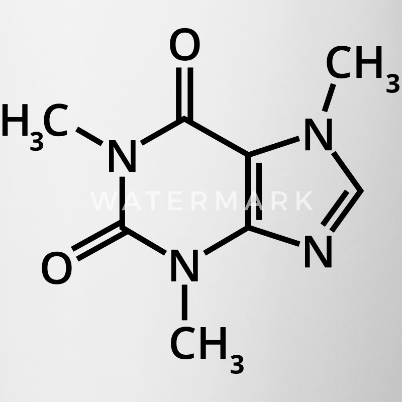 kaffee chemische formel espresso chemie mokka latt tasse spreadshirt. Black Bedroom Furniture Sets. Home Design Ideas