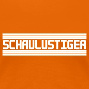 Orange Schaulustiger T-Shirts - Frauen Premium T-Shirt