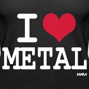 Schwarz i love metal by wam Tops - Frauen Premium Tank Top