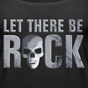 let_there_be_rock_skull_grey Tops - Women's Premium Tank Top