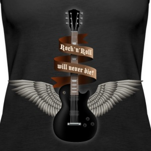 rock_guitar_b_black Top - Canotta premium da donna