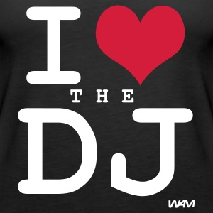 Nero i love the the dj by wam Top - Canotta premium da donna