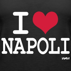 Nero i love napoli  by wam Top - Canotta premium da donna