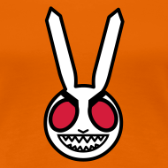 Design ~ Evil Bunny: Girl's Fitted Tee