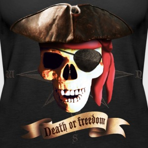dead_pirate_banner Tops - Women's Premium Tank Top