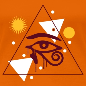 Orange Horus T-Shirts - Frauen Premium T-Shirt