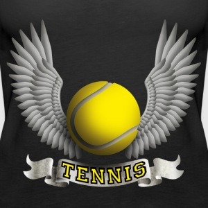 tennis_wings_b Tops - Women's Premium Tank Top