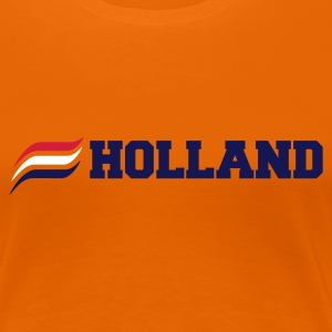 Oranje HOLLAND  3 STRIPES T-shirts - Vrouwen Premium T-shirt