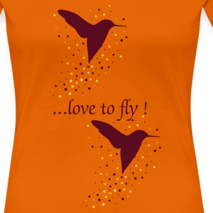 Orange Kolibri T-Shirts - Frauen Premium T-Shirt